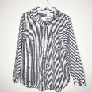OLD NAVY Classic Button Down Shirt with Hearts